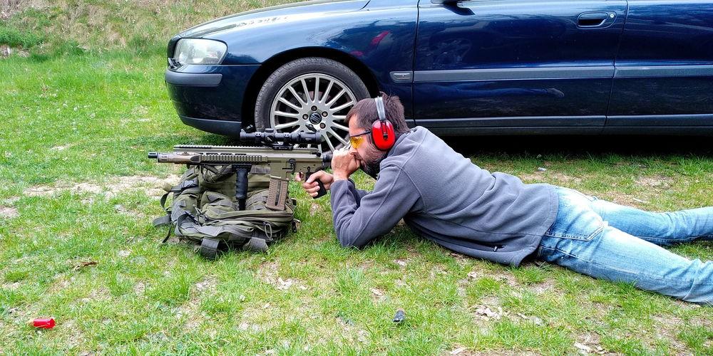 Střílení v leže